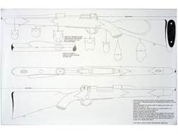 """Jerry Fisher Stockmaker's Full Scale Mechanical Stock Drawing Mauser 98 Four Views 23x35"""""""