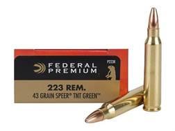 Federal Premium Ammunition 223 Remington 43 Grain Speer TNT Green Hollow Point Lead-Free Box of 20