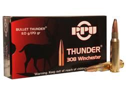Prvi Partizan Thunder Ammunition 308 Winchester 170 Grain GROM Soft Point Box of 20