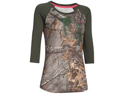 Under Armour Women's Tech Camo 3/4 Sleeve T-Shirt Polyester Realtree Xtra