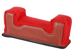 Edgewood Front Shooting Rest Bag Farley Varmint Width with Extra Reinforcment Leather and Nylon Red Unfilled
