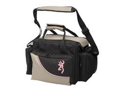 Browning Cimmaron For Her Shooting Range Bag Taupe/Black with Pink Trim