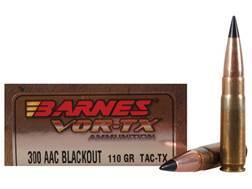 Barnes VOR-TX Ammunition 300 AAC Blackout 110 Grain Tipped TAC-TX Bullet Flat Base Lead-Free Box ...