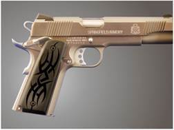 Hogue Extreme Series Grips 1911 Government, Commander Ambidextrous Safety Cut Tribal Aluminum