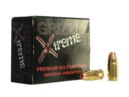 Grizzly Self-Defense Ammunition 357 Sig 110 Grain Xtreme Copper Hollow Point Lead-Free Box of 20