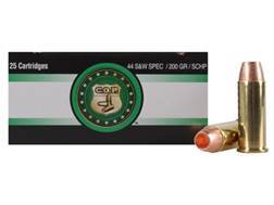 Copper Only Projectiles (C.O.P.) Ammunition 44 Special 200 Grain Solid Copper Hollow Point Box of 25