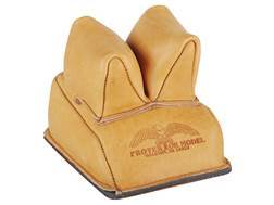 Protektor Rabbit Ear Rear Shooting Rest Bag with Heavy Bottom Leather Tan Filled