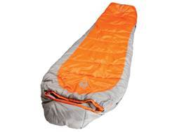 Coleman Silverton 150 25 Degree Mummy Sleeping Bag Polyester Orange and Silver