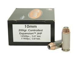 Doubletap Ammunition 10mm Auto 200 Grain Nosler Jacketed Hollow Point