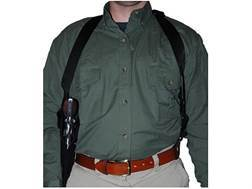"Uncle Mike's Sidekick Vertical Shoulder Holster Left Hand Medium Double-Action Revolver 6"" Barrel Nylon Black"
