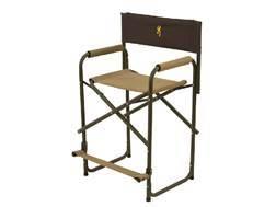 Browning Directors Chair XT Aluminum Frame Nylon Seat Khaki and Coal