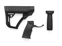 Daniel Defense Collapsible Buttstock, Pistol Grip, Vertical Foregrip Combo Kit Synthetic