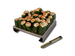 King Kooker 36-Hole Jalapeno Rack with Corer