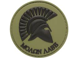 "5ive Star Gear Molon Labe PVC Morale Patch Green 2"" x 2"""