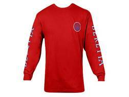 "Beretta Double Logo Shirt Long Sleeve Cotton Red Medium ( 38"" to 40"")"