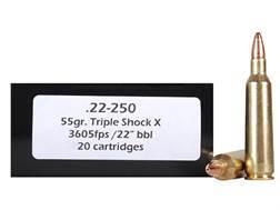 Doubletap Ammunition 22-250 Remington 55 Grain Barnes Triple-Shock X Bullet Hollow Point Lead-Free B
