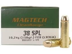 Magtech Clean Range Ammunition 38 Special 158 Grain Encapsulated Flat Nose