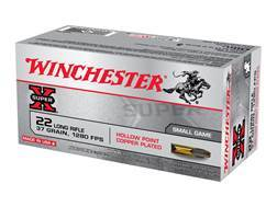 Winchester Super-X Ammunition 22 Long Rifle 37 Grain Plated Lead Hollow Point Box of 500 (10 Boxes of 50)