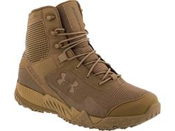 "Under Armour UA Valsetz RTS 7"" Uninsulated Tactical Boots Leather and Nylon Coyote Men's"