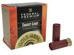 """Federal Premium Gold Medal Ammunition 12 Gauge 2-3/4"""" 1-1/8 oz #8 Shot Box of 25"""