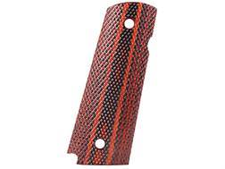 Cylinder & Slide Grips 1911 Government, Commander Checkered Dymondwood Red/Black