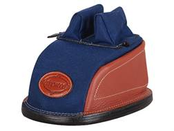 Edgewood Original Rear Shooting Rest Bag Tall with Regular Ears and Wide Stitch Width Leather and Nylon Navy Blue Unfilled