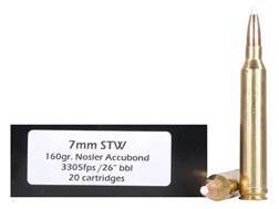 Doubletap Ammunition 7mm STW 160 Grain Nosler AccuBond Spitzer Box of 20