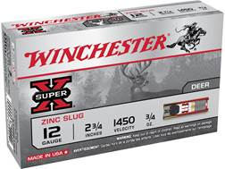 "Winchester Super-X Ammunition 12 Gauge 2-3/4"" 1 oz Foster-Type Slug Box of 5"