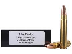 Doubletap Ammunition 416 Taylor 350 Grain Barnes Triple-Shock X Bullet Lead-Free Box of 20