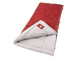 "Coleman Palmetto 30-50 Degree Sleeping Bag 33"" x 75"" Polyester Red"
