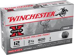 "Winchester Super-X Ammunition 12 Gauge 2-3/4"" 1 oz Rifled Slug"