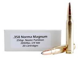 Doubletap Ammunition 358 Norma Magnum 250 Grain Nosler Partition Box of 20