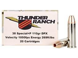 Cor-Bon Thunder Ranch DPX Defensive Ammunition 38 Special +P 110 Grain Barnes TAC-XP Hollow Point Lead-Free Box of 20