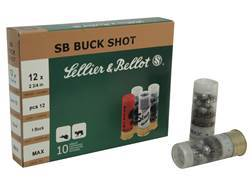 "Sellier & Bellot Ammunition 12 Gauge 2-3/4"" #1 Buckshot 12 Pellets"