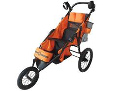 Do-All 2 Gunner Folding 3-Wheel Shooting Cart Nylon Orange