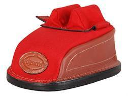 Edgewood Original Rear Shooting Rest Bag Standard with Short Ears and Regular Stitch Width Leather and Nylon Red Unfilled