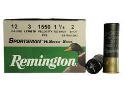 "Remington Sportsman Hi-Speed Ammunition 12 Gauge 3"" 1-1/8 oz #2 Non-Toxic Steel Shot"