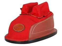 Edgewood Minigater Rear Shooting Rest Bag Tall with Regular Ears and Wide Stitch Width Leather and Nylon Red Unfilled