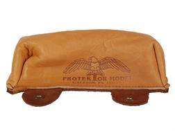 Protektor Sausage Front Shooting Rest Bag Leather Tan Unfilled