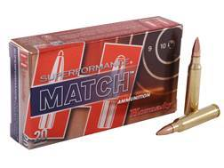 Hornady Superformance Match Ammunition 5.56x45mm NATO 75 Grain Hollow Point Boat Tail Match Box of 20