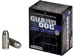 Federal Premium Guard Dog Home Defense Ammunition 9mm Luger 105 Grain Expanding Full Metal Jacket Box of 20