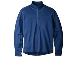 Mountain Khakis Men's Rendezvous Quarter Zip Shirt Long Sleeve Merino Wool Clear Blue XXL 49-51