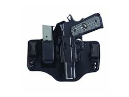 Galco KingTuk 2 Tuckable Inside the Waistband Holster Left Hand Glock 17, 19, 26, 22, 23, 27 Leather and Kydex Black