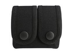 Uncle Mike's Double Speedloader Pouch Molded Insert Snap Closure Nylon Black
