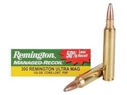 Remington Managed-Recoil Ammunition 300 Remington Ultra Magnum 150 Grain Pointed Soft Point Core-Lokt Box of 20