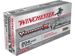 Winchester Varmint X Ammunition 204 Ruger 32 Grain Polymer Tip