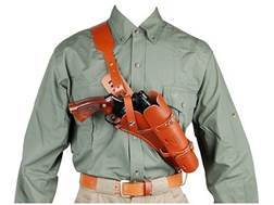 "Hunter 68-200 Scoped Pistol Bandolier Holster Right Hand Single-Action Revolvers 7.5"" Barrel Leather Brown"
