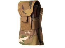 Blackhawk S.T.R.I.K.E. MOLLE M4/M16 Single Magazine Pouch Holds 2 AR-15 30 Round Magazine Nylon Multicam Camo