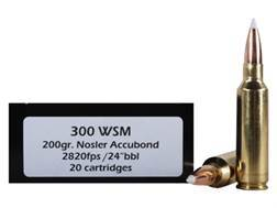 Doubletap Ammunition 300 Winchester Short Magnum (WSM) 200 Grain Nosler AccuBond Spitzer Boat Tail Box of 20