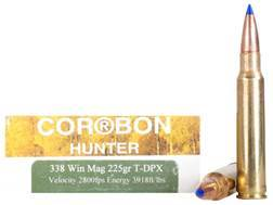Cor-Bon DPX Hunter Ammunition 338 Winchester Magnum 225 Grain Tipped DPX Lead-Free Box of 20